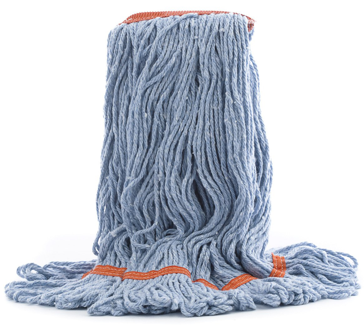 L Atlas Graham® Janiloop™ Narrow Band Mop, Synthetic, Blue
