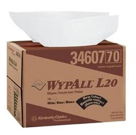 WYPALL® L20 Kimtowel™ Wipes in Brag Box™ 4-ply White