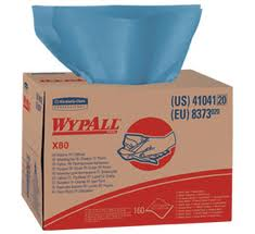 WypAll® X80™ Brag Box™ Extended Use Hydroknit Cloths, Jumbo Roll, Blue