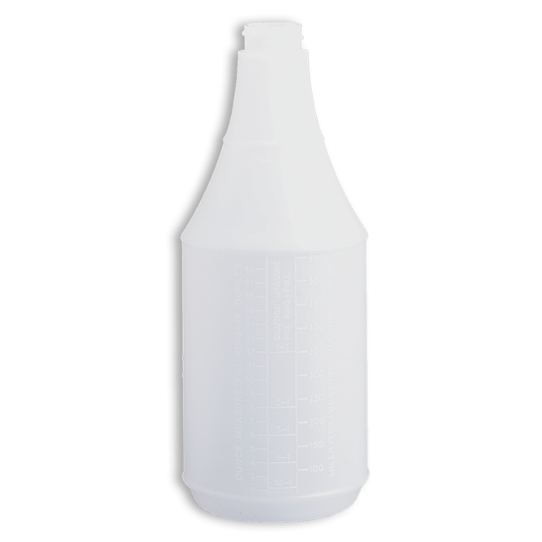 24oz Tolco® Round Poly Bottle w/ Embossed Scale, Plastic, White